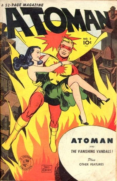 Cover for Atoman Comics (Spark Publications, 1946 series) #2