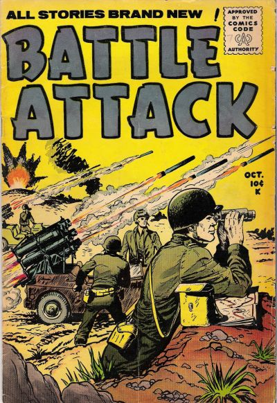 Cover for Battle Attack (Stanley Morse, 1954 series) #7