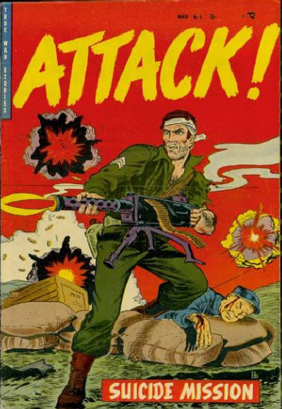 Cover for Attack! (Trojan Magazines, 1953 series) #6 [2]