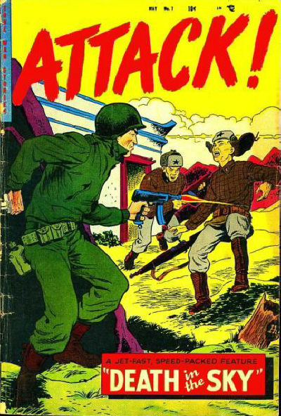 Cover for Attack! (Trojan Magazines, 1953 series) #7 [3]