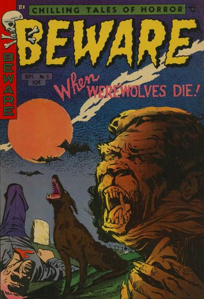 Cover for Beware (Trojan Magazines, 1953 series) #5
