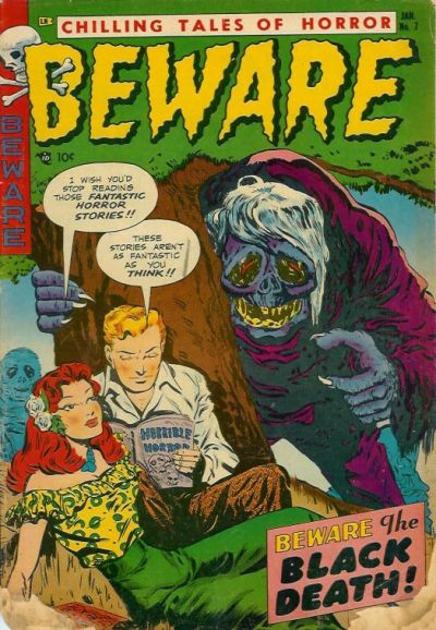 Cover for Beware (Trojan Magazines, 1953 series) #7