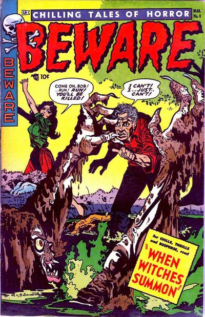 Cover for Beware (Trojan Magazines, 1953 series) #8