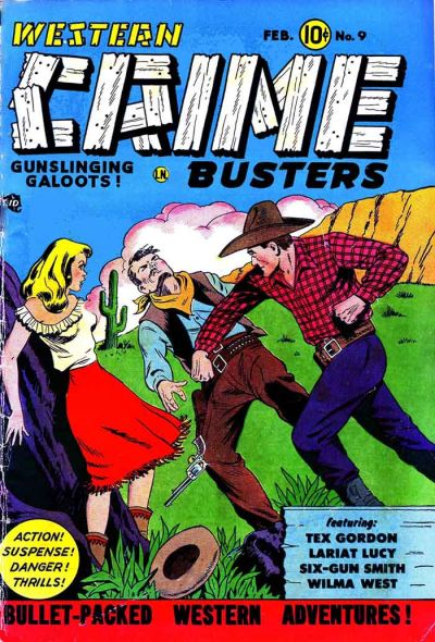 Cover for Western Crime Busters (Trojan Magazines, 1950 series) #9