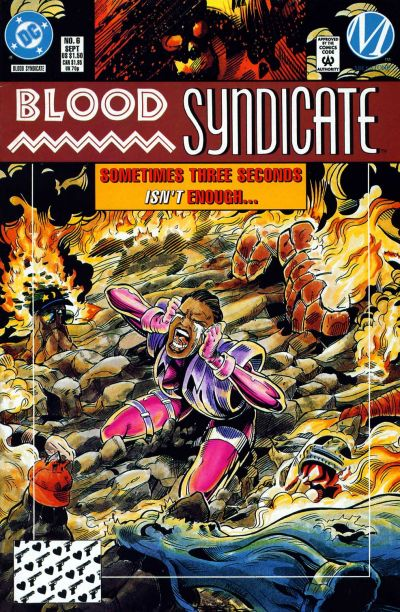 Cover for Blood Syndicate (DC, 1993 series) #6 [Direct]
