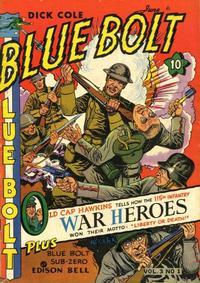 Cover for Blue Bolt (Novelty / Premium / Curtis, 1940 series) #v3#1 [25]