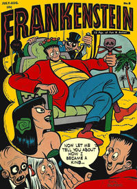 Cover Thumbnail for Frankenstein (Prize, 1945 series) #8