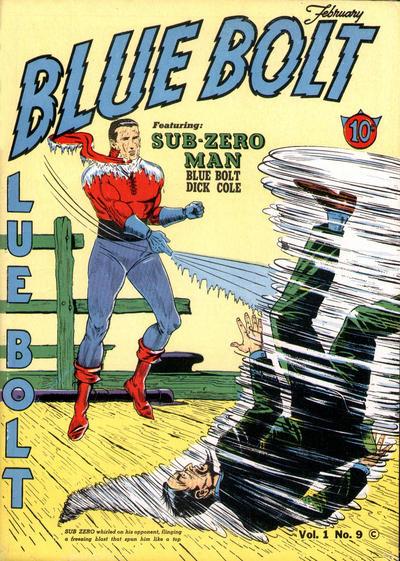 Cover for Blue Bolt (Novelty / Premium / Curtis, 1940 series) #v1#9 [9]