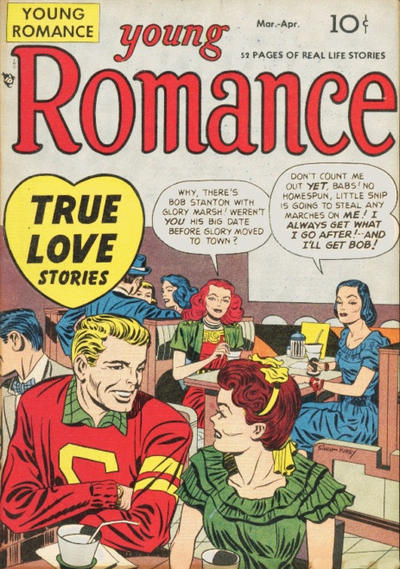 Cover for Young Romance (Prize, 1947 series) #v1#4 [4]