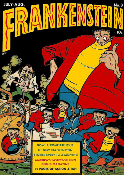 Cover for Frankenstein (Prize, 1945 series) #3