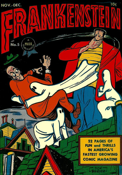 Cover for Frankenstein (Prize, 1945 series) #5