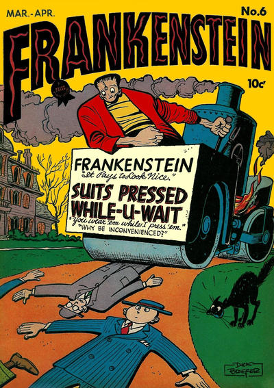 Cover for Frankenstein (Prize, 1945 series) #6