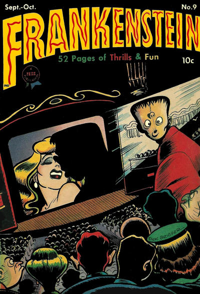 Cover for Frankenstein (Prize, 1945 series) #9