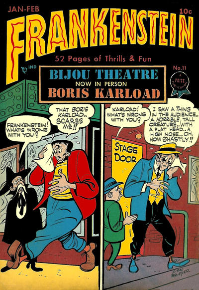 Cover for Frankenstein (Prize, 1945 series) #11