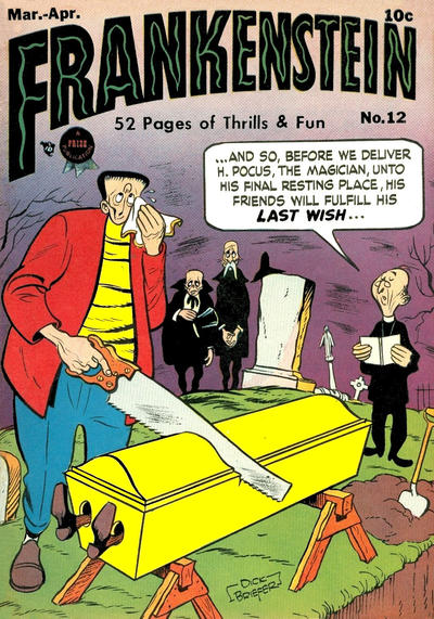 Cover for Frankenstein (Prize, 1945 series) #12