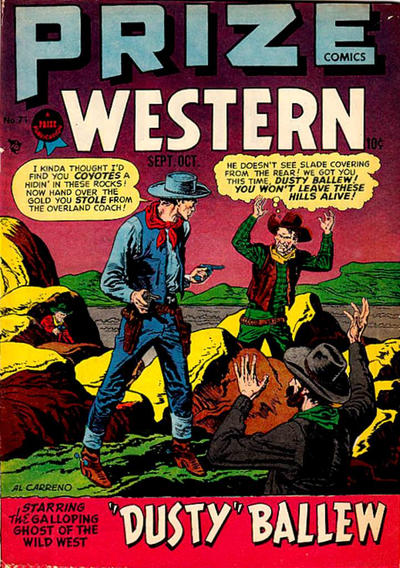 Cover for Prize Comics Western (Prize, 1948 series) #v7#4 (71)