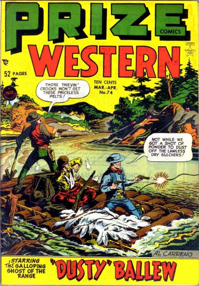Cover for Prize Comics Western (Prize, 1948 series) #v8#1 (74)