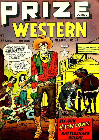 Cover for Prize Comics Western (Prize, 1948 series) #v8#2 (75)