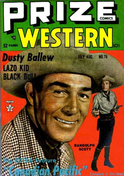 Cover for Prize Comics Western (Prize, 1948 series) #v8#3 (76)