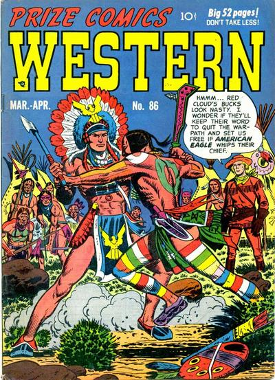 Cover for Prize Comics Western (Prize, 1948 series) #v10#1 (86)