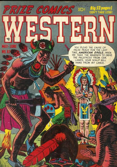 Cover for Prize Comics Western (Prize, 1948 series) #v10#2 (87)