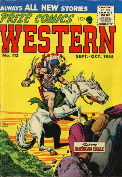 Cover for Prize Comics Western (Prize, 1948 series) #v14#4 (113)