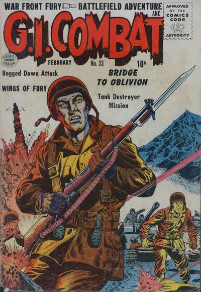 Cover for G.I. Combat (Quality Comics, 1952 series) #33
