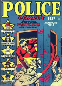 Cover Thumbnail for Police Comics (Quality Comics, 1941 series) #6