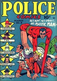 Cover Thumbnail for Police Comics (Quality Comics, 1941 series) #8