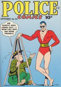Cover Thumbnail for Police Comics (Quality Comics, 1941 series) #34