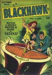 Cover Thumbnail for Blackhawk (Quality Comics, 1944 series) #21