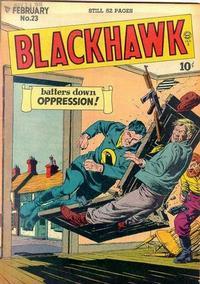Cover Thumbnail for Blackhawk (Quality Comics, 1944 series) #23