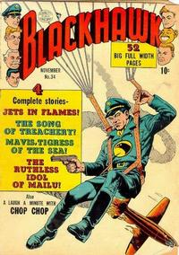Cover Thumbnail for Blackhawk (Quality Comics, 1944 series) #34