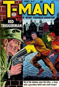 Cover Thumbnail for T-Man (Quality Comics, 1951 series) #17