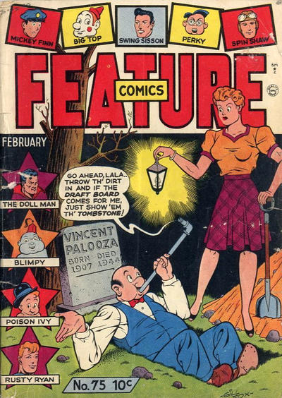 Cover for Feature Comics (Quality Comics, 1939 series) #75