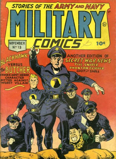 Cover for Military Comics (Quality Comics, 1941 series) #13
