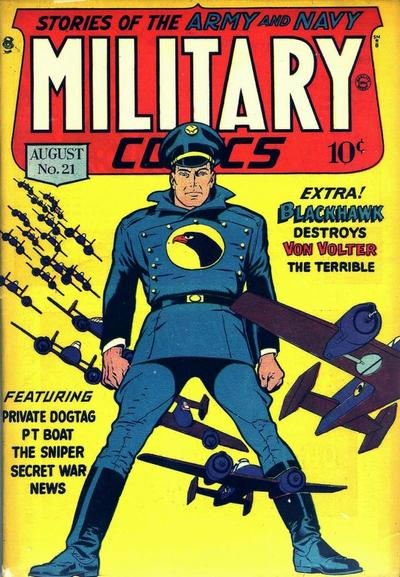Cover for Military Comics (Quality Comics, 1941 series) #21