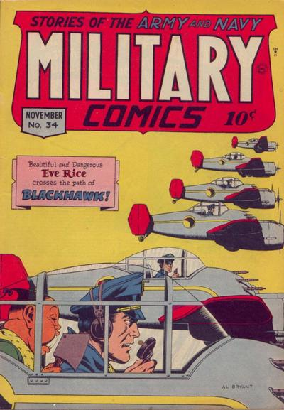 Cover for Military Comics (Quality Comics, 1941 series) #34
