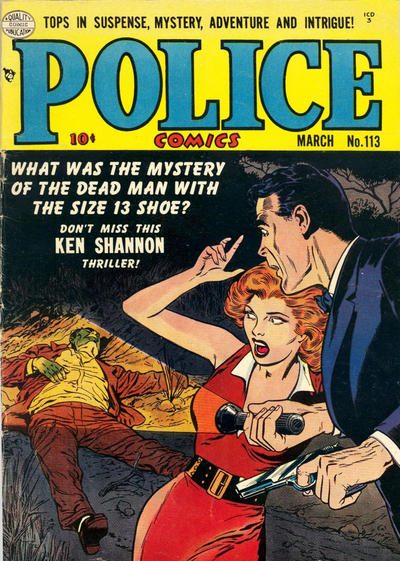 Cover for Police Comics (Quality Comics, 1941 series) #113