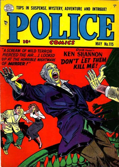 Cover for Police Comics (Quality Comics, 1941 series) #115