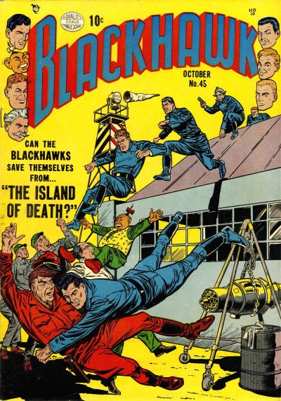 Cover for Blackhawk (Quality Comics, 1944 series) #45