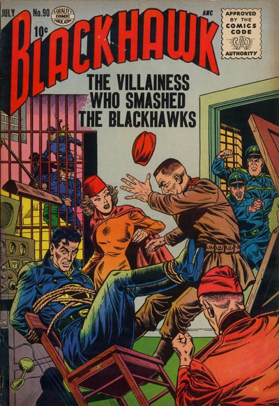 Cover for Blackhawk (Quality Comics, 1944 series) #90