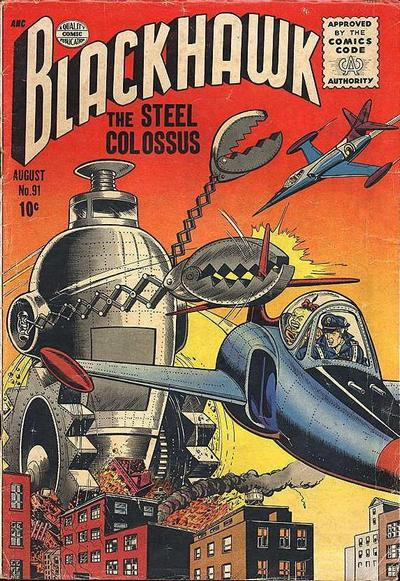 Cover for Blackhawk (Quality Comics, 1944 series) #91