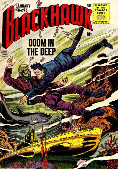 Cover for Blackhawk (Quality Comics, 1944 series) #96
