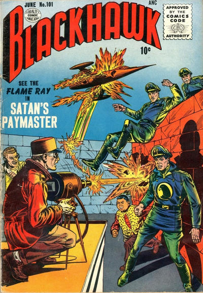 Cover for Blackhawk (Quality Comics, 1944 series) #101