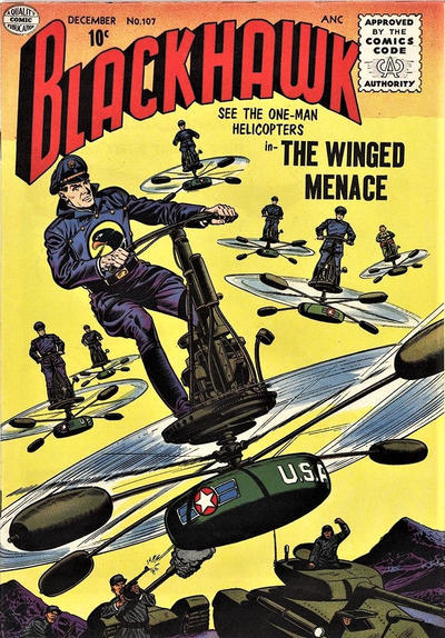 Cover for Blackhawk (Quality Comics, 1944 series) #107
