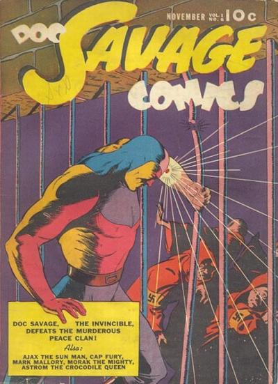 Cover for Doc Savage Comics (Street and Smith, 1940 series) #v1#6 [6]