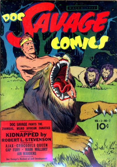 Cover for Doc Savage Comics (Street and Smith, 1940 series) #v1#7 [7]