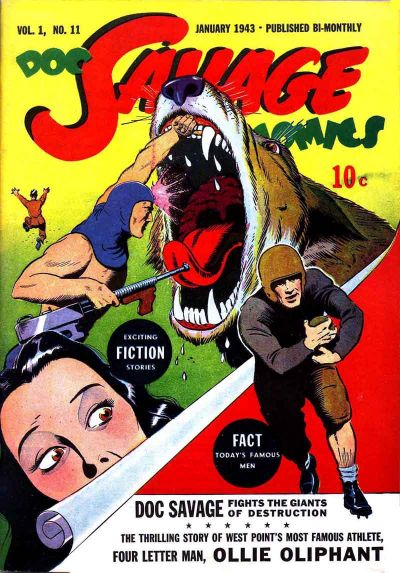 Cover for Doc Savage Comics (Street and Smith, 1940 series) #v1#11