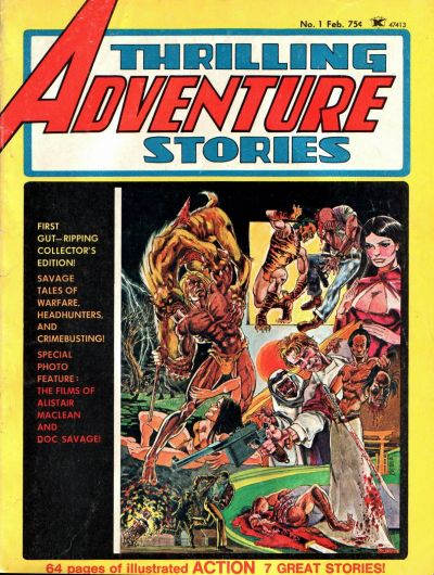 Cover for Thrilling Adventure Stories (Seaboard, 1975 series) #1